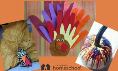 fall autumn crafts kids homeschool homeschooling