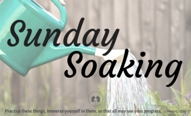 homeschool homeschooling devotional Sunday Soaking