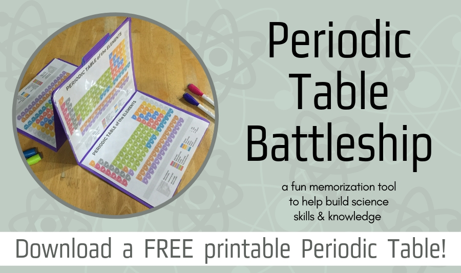 periodic table elements chemistry game battleship