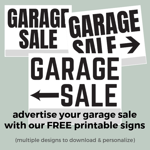 image relating to Printable Garage Sale Signs called Garage Sale! (with Cost-free Printable May possibly Do It Record) - A