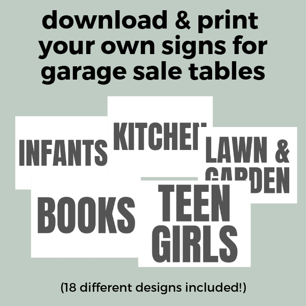 photo regarding Printable Garage Sale Signs named Garage Sale! (with Cost-free Printable Could possibly Do It Record) - A
