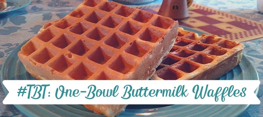 Throwback Thursday:  One-Bowl Buttermilk Waffles