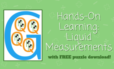 liquid measurements puzzle activity download printable Montessori hands-on learning homeschool homeschooling