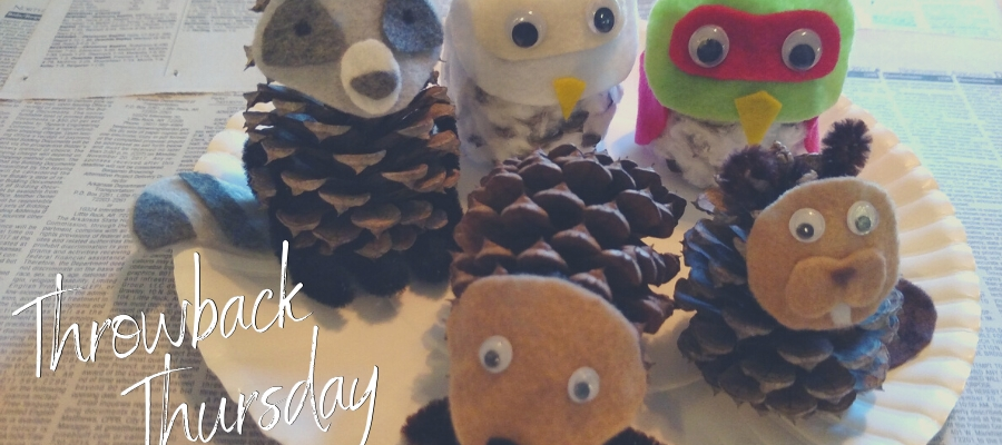 #TBT: Make Your Own Woodland Pine Cone Creatures