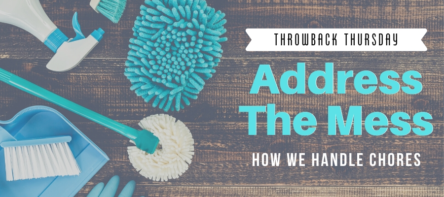 Throwback Thursday: Address the Mess (How We Handle Chores)