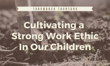 work ethic diligence entitlement selfishness materialism parenting homeschool homeschooling