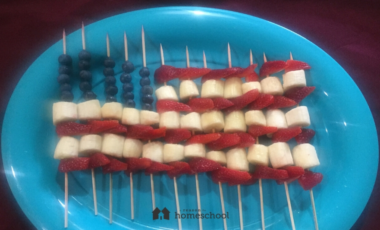 July 4th Independence Day flag fruit dessert homemade