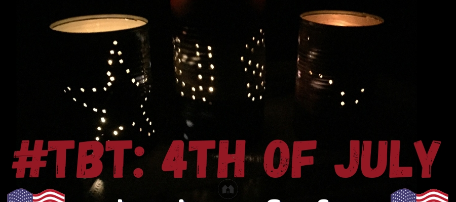 #TBT: DIY 4th of July Luminaries
