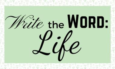 life Write The Word Bible scripture journaling handwriting